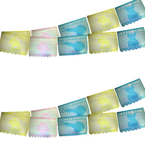 7ft Large Baby Shower Papel Picado (2 banners)