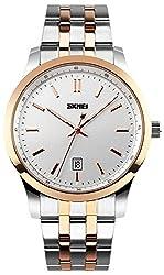 Skmei HMWA05S085C0 Analog White Dial Mens Watch