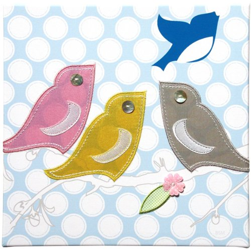 Flocked Birds Wall Art - Under the Tree Collection - 1