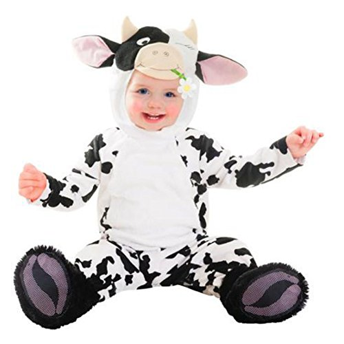Goodmark Infant Boys & Girls Cutie Cow Costume Plush Baby Cow Suit