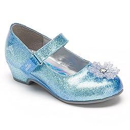 Disney Frozen Elsa Girls\' Dress Shoes Mary Janes Toddler Size 8