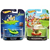 Flintstones & Jestsons Retro Entertainment Hot Wheels 2 Car Set Flintmobile & Capsule Car 2014