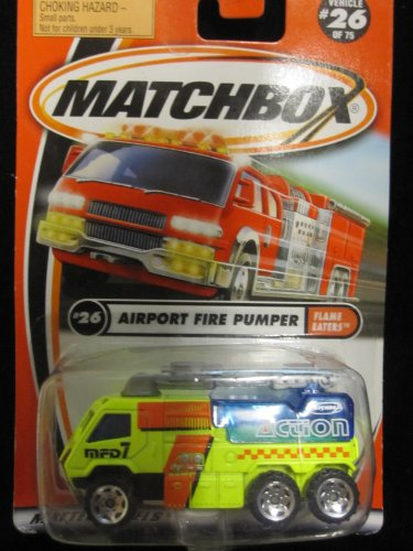 Matchbox Airport Fire Pumper #26 Flame Eaters Series