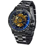 TSS Men's T5009HC5 Automatic Skeleton Diver Beze Watch with Stainless Steel Band