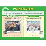 Pointillism Art Educational Wall ChartPoster in laminated paper A1 850mm x 594mm