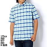 コーエン(メンズ)(coen) ブロックチェック半袖オックスボタンダウンシャツ