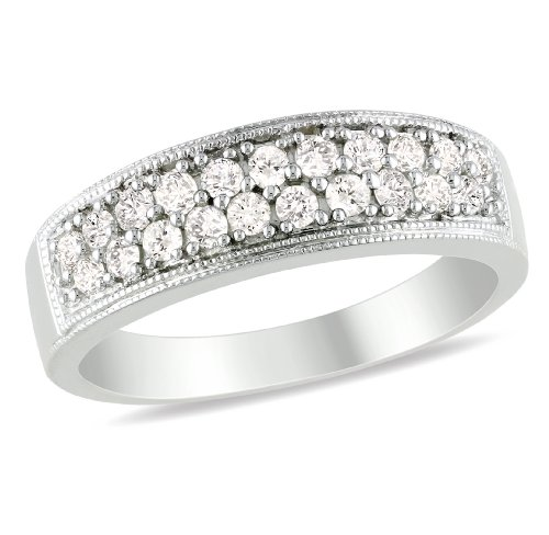 Sterling Silver, Diamond Ring, (.5 cttw, GH Color, I2-3 Clarity)