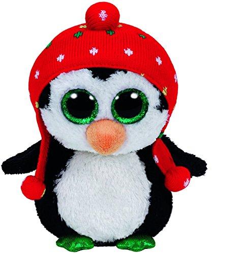 carletto-ty-36172-freeze-pinguin-mit-mutze-15-cm-mit-glitzeraugen-glubschis-beanie-boos-x-mas-limiti