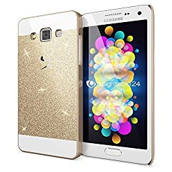 Samsung galaxy A7 (2015) Edition Glittering sparkle Gold hard back cover