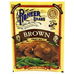 Pioneer Brand Gravy Mix, Brown, 1.61-Ounce Packets (Pack of 24)