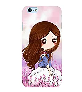 Cute Girl 3D Hard Polycarbonate Designer Back Case Cover for Apple iPhone 6s Plus :: Apple iPhone 6s+