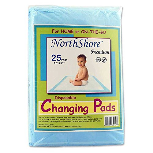 NorthShore Premium, 17 x 24, 8 oz., Changing Pads, Small, Pack/25