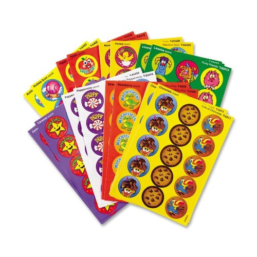 Trend Enterprises T6491 Stinky Stickers Variety Pack, Fun & Fancy, 432/Pack