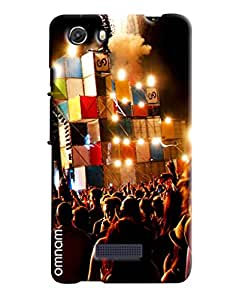 Omnam Night Party Printed Designer Back Cover Case For Micromax Unite 3