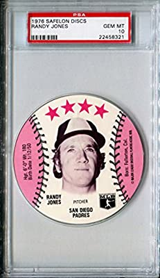 1976 MSA Safelon Sports Discs RANDY JONES Rare PSA Gem Mint 10 SP San Diego Padres / New York Mets