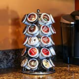 Lily's Home K Cup Holder Carousel for 35 K-Cups in Chrome. K Cup Storage in Style