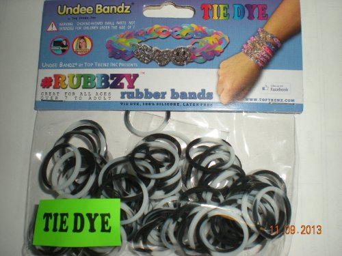 Rubbzy Black and White Tie Dye Loose Rubber Bands