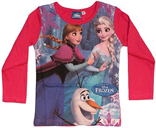 Disney -  Maglia a manica lunga  - Basic - Collo a U  - ragazza rosa 3 anni