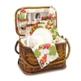 Picnic Time Romance Picnic Basket with Deluxe Service for Two