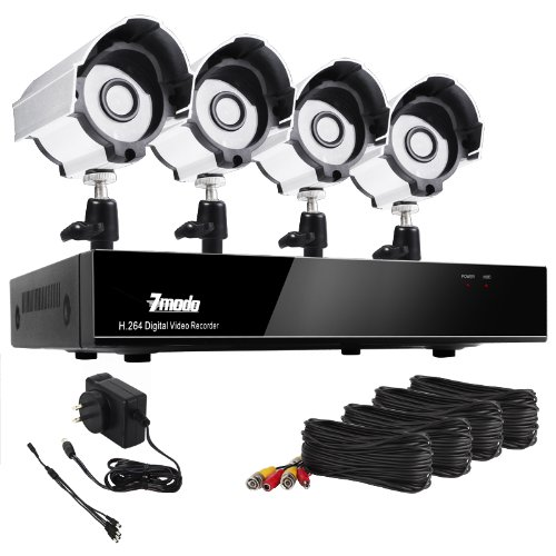 For Sale! Zmodo 8CH H.264 DVR Security CCTV Surveillance Camera System 4 Sony CCD Night Vision Outdo...