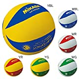 ミカサソフトバレーボールイエローブルー 小学校ソフトバレーボール試合球 1~4年生用 MS-M64-YBL