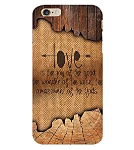 Love Quote 3D Hard Polycarbonate Designer Back Case Cover for Apple iPhone 6S