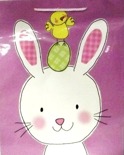 Easter Baby Chick on Bunny Head Gift Bag