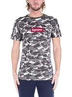 Supreme Italia Camiseta Manga Corta SUTS1808 (Verde Militar / Blanco)