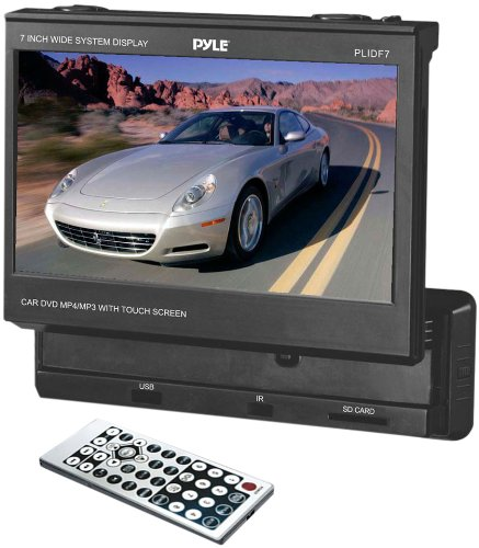 Pyle Plidf7  7-Inch Touch Screen Slide Out Tft/Lcd Monitor With Dvd/Cd/Mp3/Am/Fm Receiver