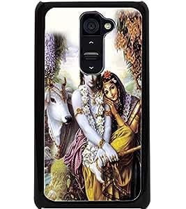ColourCraft Lord Radha Krishan Design Back Case Cover for LG G2