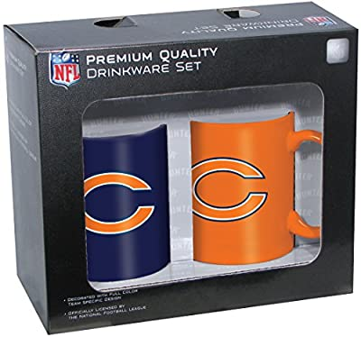 NFL Chicago Bears 11oz Ceramic Mug 2Piece Set, Clear, 11 oz