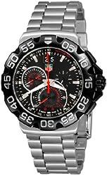TAG Heuer Men's CAH1010.BA0860 Formula 1 Grande Date Chronograph Black Dial Watch