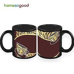 HomeSoGood Cups On The Edge Coffee Mugs (2 Mugs)