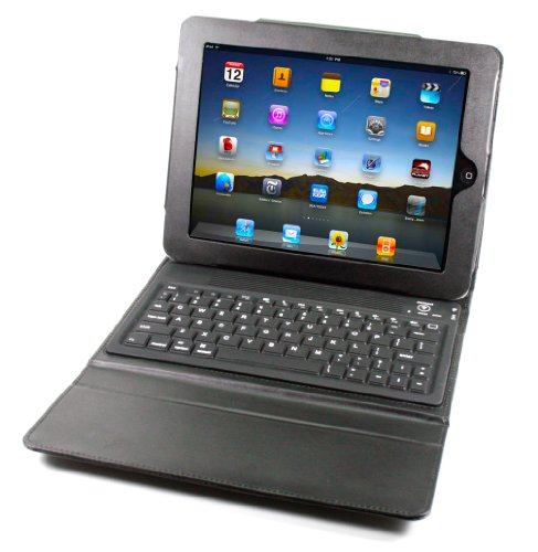 Solid Line iPad Case with Bluetooth Keyboard (Black)