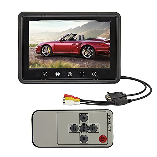 9 Inch Remote Control Tft Color Lcd Car Auto Reverse Rear View Monitor With 2 Av Inputs&800*480 Native Resolution For Camera Dvd Vcr