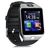 EasySMX DZ09 Bluetooth Smart Watch Phone Smartwatch Wristwatch with 2.0MP Camera for Samsung HTC Huawei Xiaomi Android Smartphones (Silver)