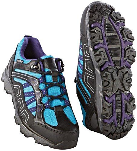 CRIVIT® OUTDOOR Damen Trekkingschuhe / Wanderschuhe (blau / lila / schwarz, Gr. 38)