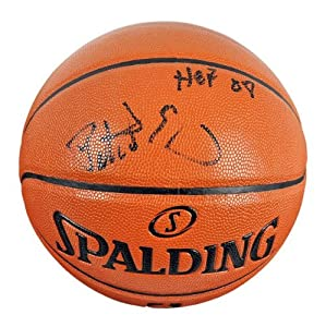 Patrick Ewing New York Knicks Autographed Spalding Indoor Outdoor Basketball with HOF... by Sports Memorabilia