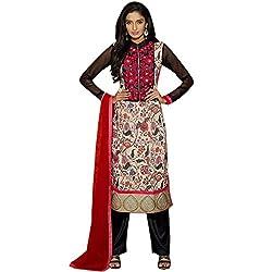 Vasu Saree For Women Multi Colour Cotton Designer Straight Salwar Kameez