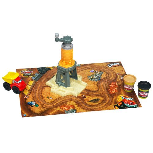 Set Includes 2 Colors Of Play-Doh Modeling Compound - Play-Doh Diggin' Rigs Tonka Chuck 'N Friends Grinding Gravel Yard Set