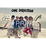 "One Direction Poster Photo Signed PP Niall Horan Harry Styles Zayn Louis Liam 12x8"" Perfect Giftby One Direction"