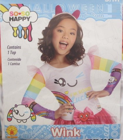 Rubies So-So Happy Wink Costume Top, Child Small/Medium