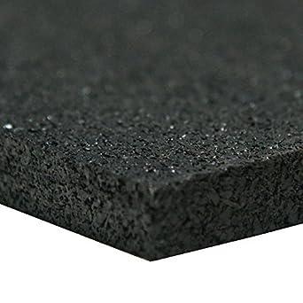 Hoja de caucho reciclado, 60 Shore A, Negro, acabado liso, sin