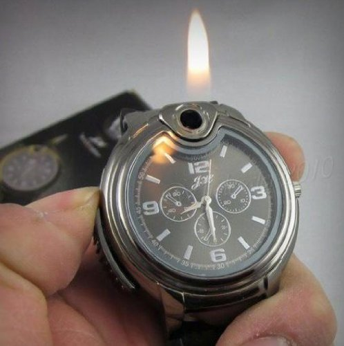Cool Novel Watch Refillable Butane Gas Cigarette Cigar Lighter