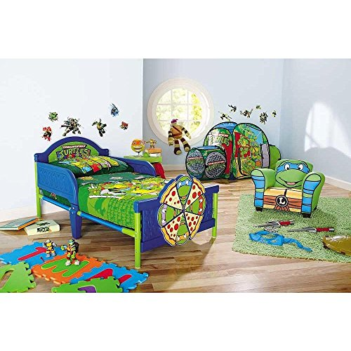Teenage Mutant Ninja Turtles 4 Piece Toddler Bedding Set (Ninja Turtles Bed compare prices)