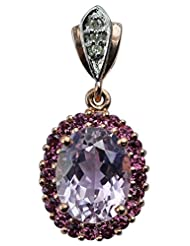 Carillon India Kunzite & Pink Tourmaline Gold Plated Silver Pendent