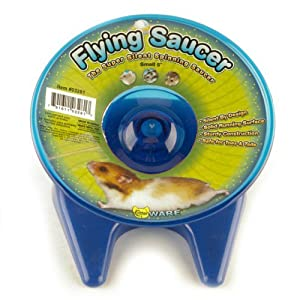 Ware Flying Saucer Small Pet Exercise Wheel, 5-Inch, Small