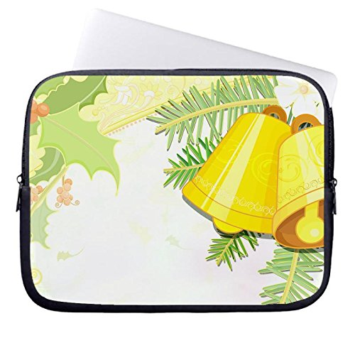 hugpillows-laptop-sleeve-bag-christmas-bells-vector-notebook-sleeve-cases-with-zipper-for-macbook-ai