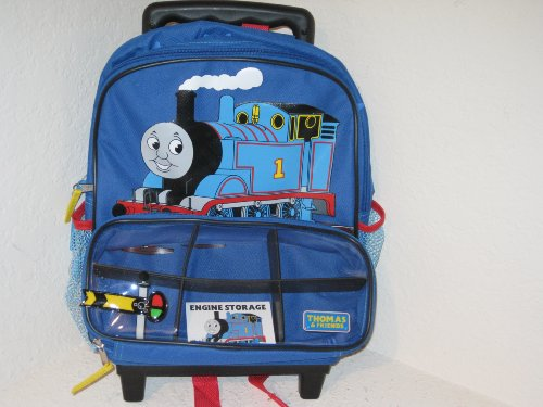 Thomas & Friends Thomas The Train Roll-along Rolling Backpack On Wheels With Retractable Handle - Sodor Engine Works Picture