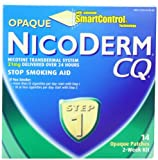 NicoDerm CQ Opaque Nicotine Patch 21 milligram (Step 1) Stop Smoking Aid 14 count